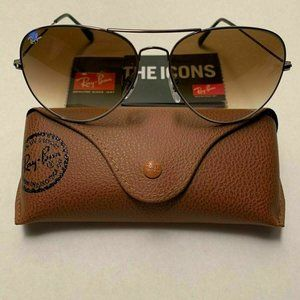 🦋Ray-Ban RB3026 Frame Brown Gradient Lens